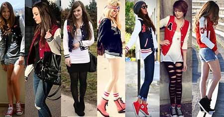 moda feminina em blusas de frio college