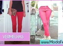 modelos de Looks com Calça Vermelha