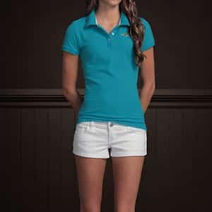 imagens de camiseta polo feminina