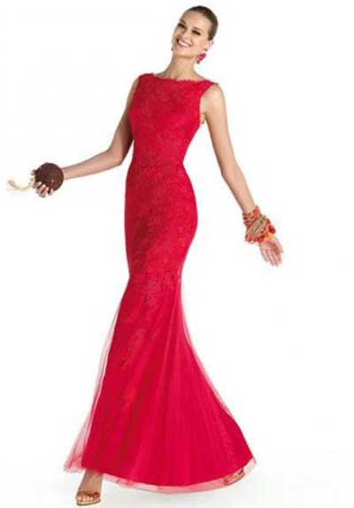 tendências de vestidos vermelhos