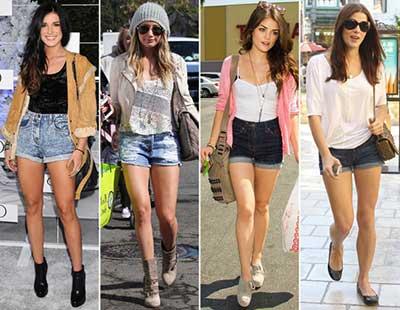 tendências de looks com shorts