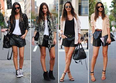 sugestões de looks com shorts