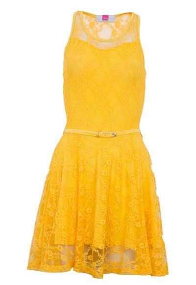 modelos de vestidos amarelos