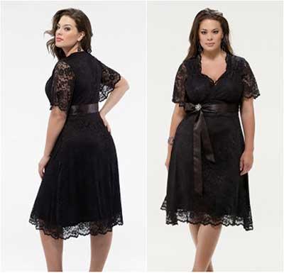 Vestido de renda preto tamanho gg