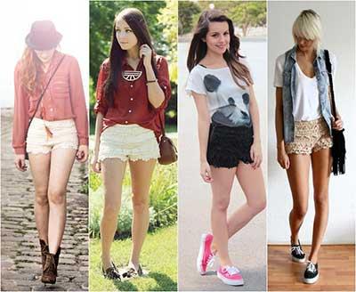 looks com shorts femininos