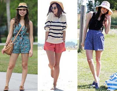fotos de shorts femininos