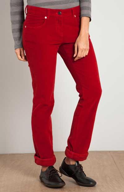 calças vermelhas da moda