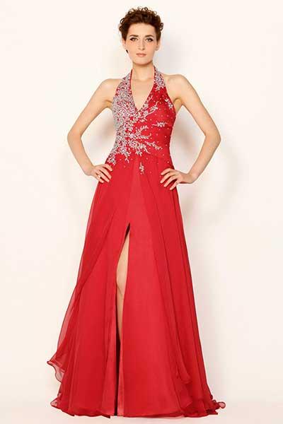 vestidos de formatura vermelhos
