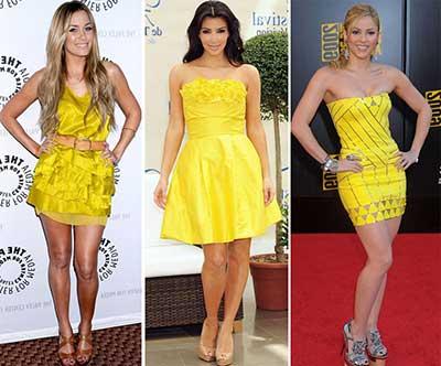 imagens de vestidos amarelos