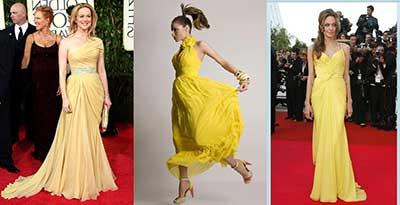 fotos de vestidos amarelos