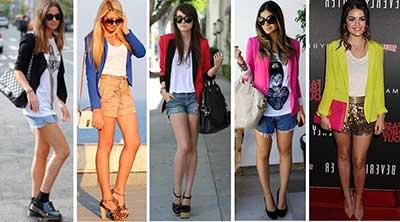 tendências de shorts femininos