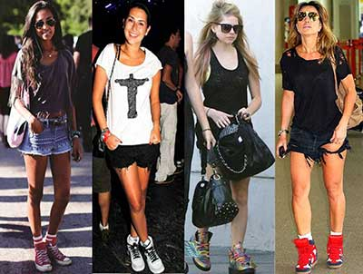 fotos de looks com shorts