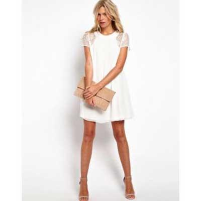 tendências de vestidos brancos