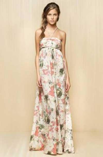 imagens de vestidos longos estampados