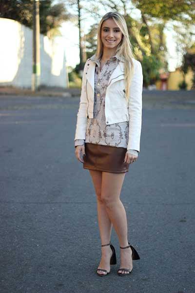 modelos de saia de couro