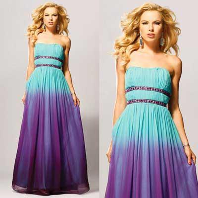 vestido azul da moda
