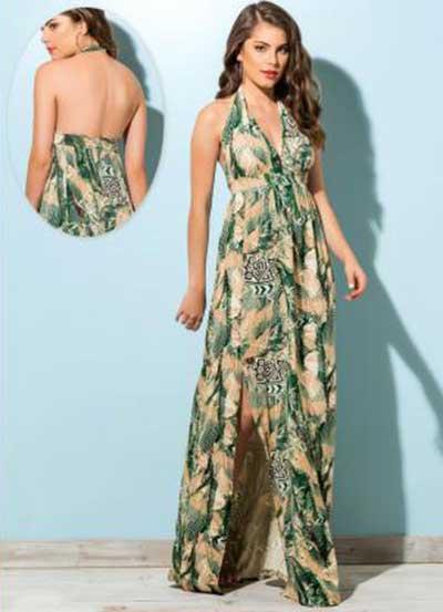 modelos de vestidos longos estampados