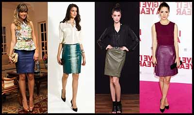 fotos de saia de couro