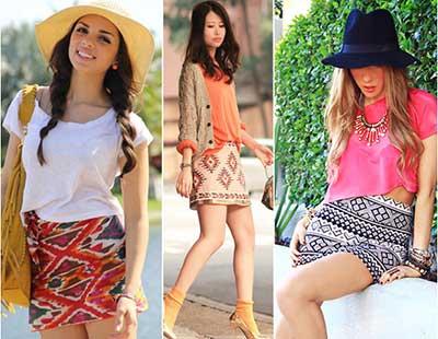 modelos de saias étnicas