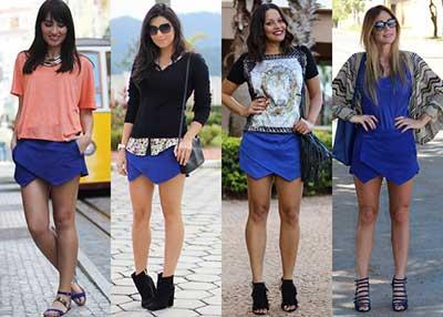 imagens de looks com shorts