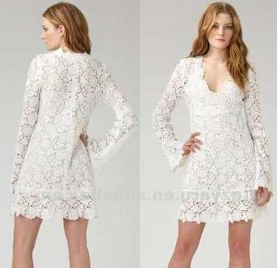 e756bc0fc1 vestidos brancos de Manga longa