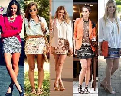 imagens de saias étnicas