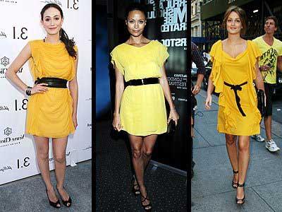 looks com amarelo e cinto preto