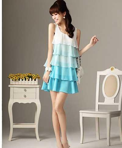 vestidos azuis femininos