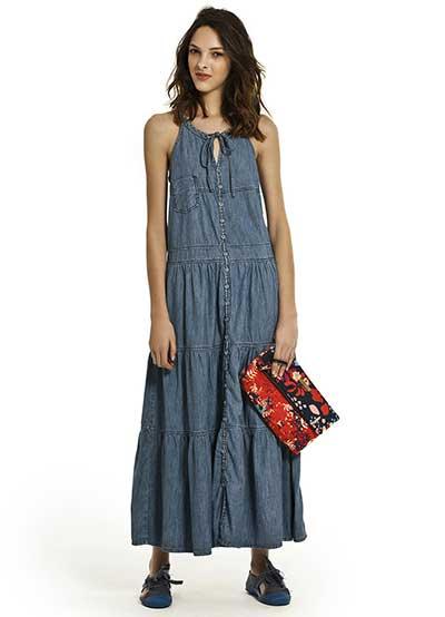 vestidos jeans da moda
