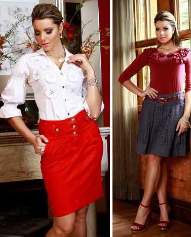 imagens de saias de tecido
