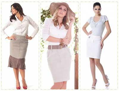 fotos de saias de tecido