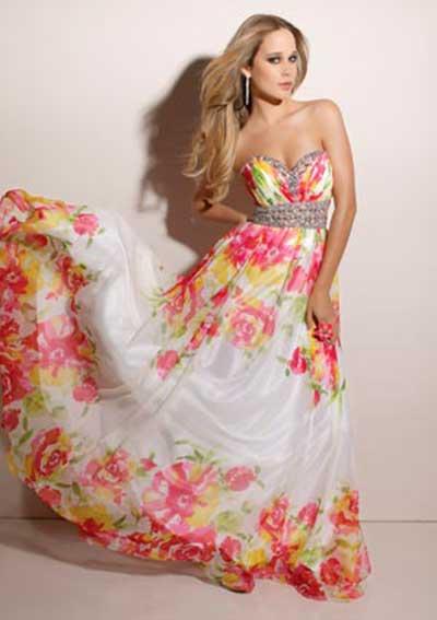 tendências de vestidos floridos