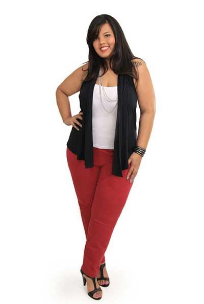 modelos de calças vermelhas