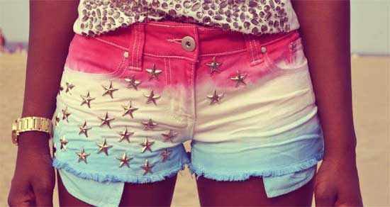 Модные шорты для девочки