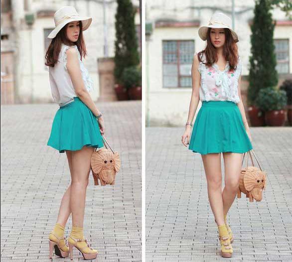 modelos de saias de tecido