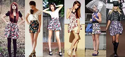 fotos de saias estampadas