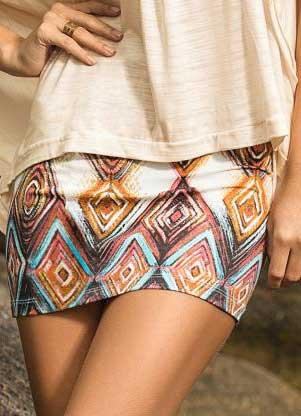 tendências de saias estampadas
