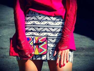 imagens de saias estampadas