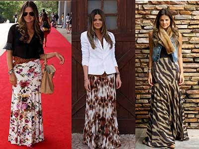 saias estampadas da moda