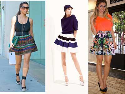fotos de modelos de saias estampadas
