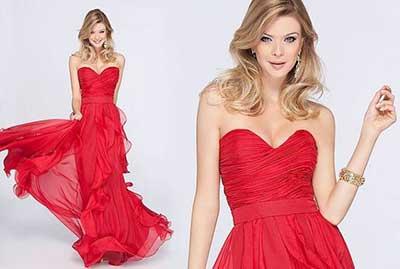 vestidos para madrinhas vermelhos