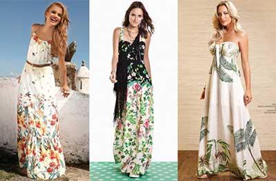 modelos de vestidos com estampas