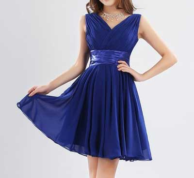 Vestido azul royal curto