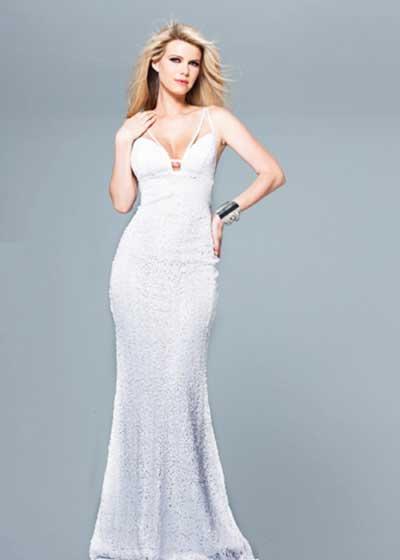 Vestido branco longo simples comprar
