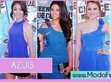 modelos de vestidos azuis