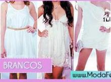 modelos de vestidos brancos