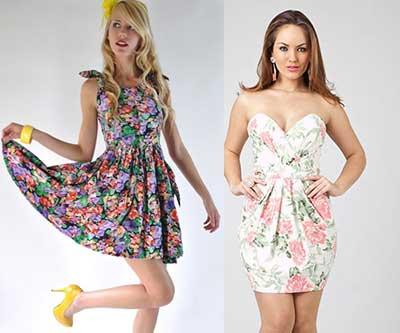 vestidos com estampas floridas