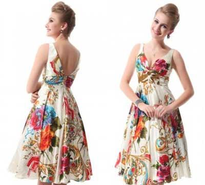 vestidos com estampas