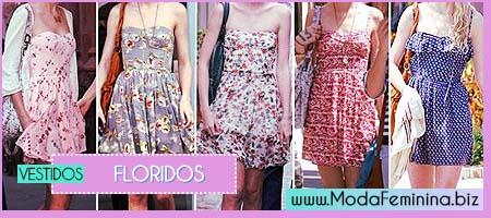 modelos de vestidos floridos