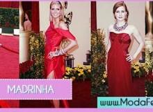 modelos de vestidos vermelhos para madrinha de casamento